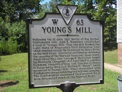Young's Mill Marker image. Click for full size.