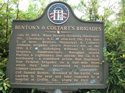 Benton's & Cotart's Brigades Marker image. Click for full size.