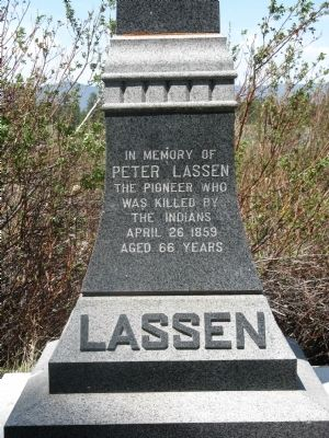 Peter Lassen Grave Marker image. Click for full size.