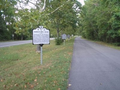 Jamestown Road Marker image. Click for full size.