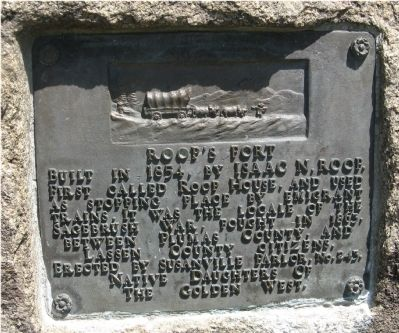 Roop's Fort Marker image. Click for full size.