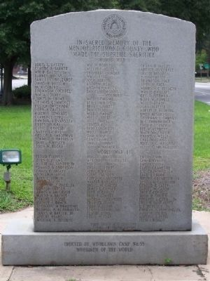 Woodmen Of The World Memorial Marker, west face image. Click for full size.