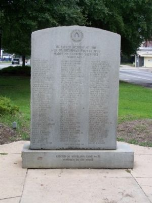 Woodmen Of The World Memorial Marker, east face image. Click for full size.