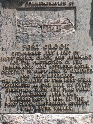 Fort Crook Marker image. Click for full size.