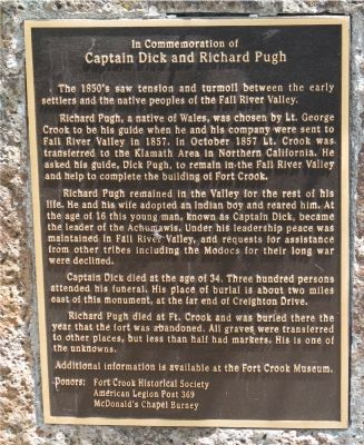 Captain Dick and Richard Pugh Marker image. Click for full size.