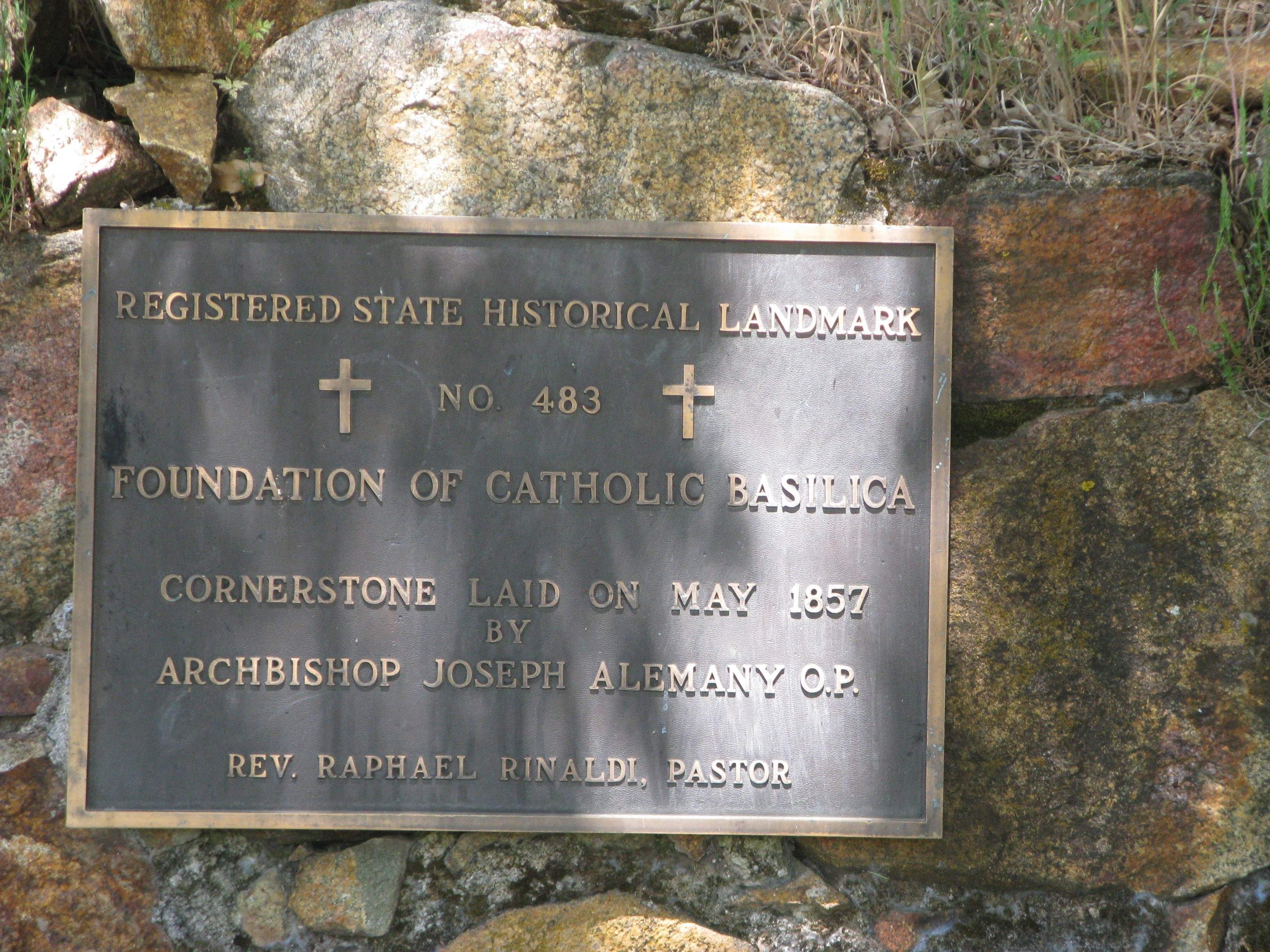 Foundation of Catholic Basilica Marker