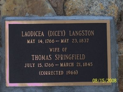 Laodicea (Dicey) Langston image. Click for full size.