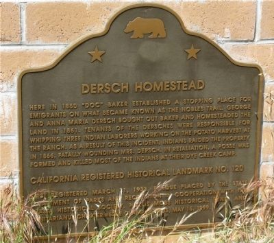 Dersch Homestead Marker image. Click for full size.