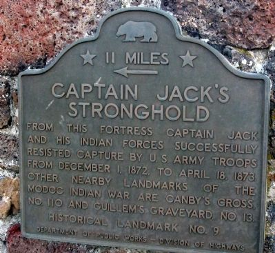 Captain Jack's Stronghold Marker image. Click for full size.