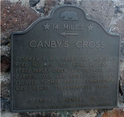 Canby's Cross Marker image. Click for full size.
