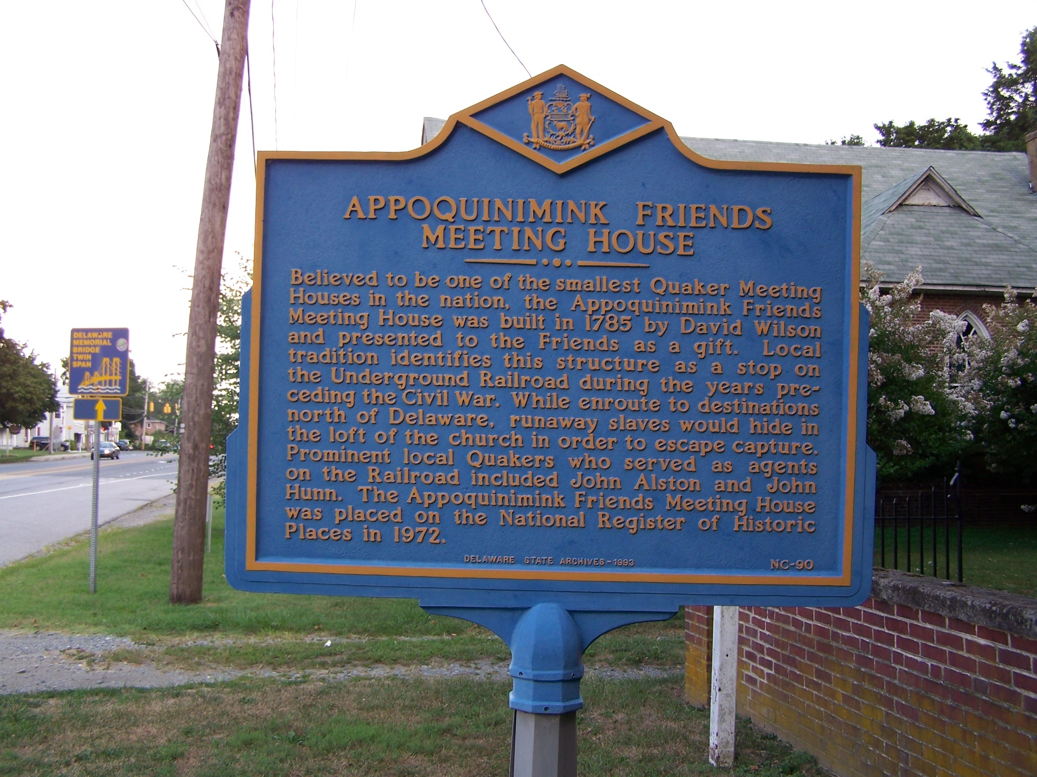 Appoquinimink Friends Meeting House Marker