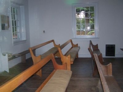 Interior of Appoquinimink Friends Meeting House image. Click for full size.