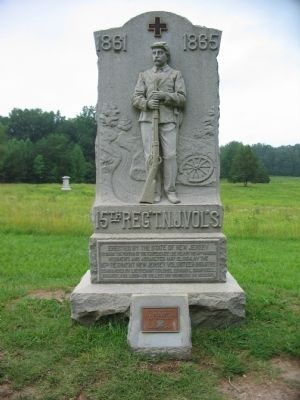 15th Regiment New Jersey Volunteers Monument image. Click for full size.
