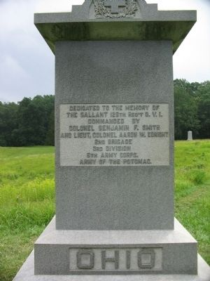126th Ohio Volunteer Infantry Monument - West Side image. Click for full size.