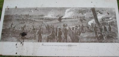 Generals Hancock and Wright Fighting for the Rebel Rifle-Pits image. Click for full size.
