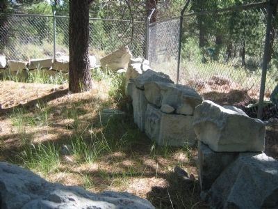Old Foundation of Jail at Silver Mountain City image. Click for full size.