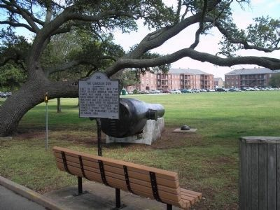 Marker at Fort Monroe image. Click for full size.