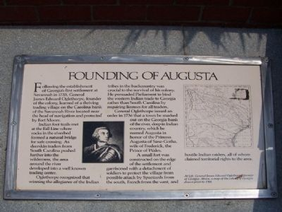 Founding of Augusta Marker image. Click for full size.