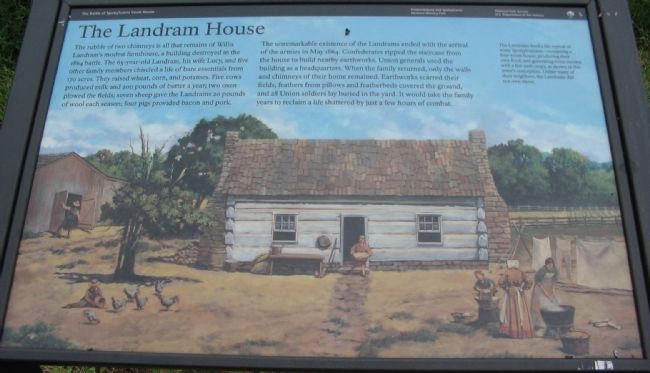 The Landram House Marker image. Click for full size.