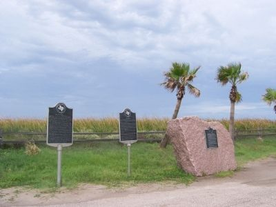 Two Markers and One Monument at Surfside Beach image. Click for full size.