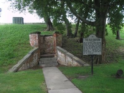 Marker in Fort Monroe image. Click for full size.