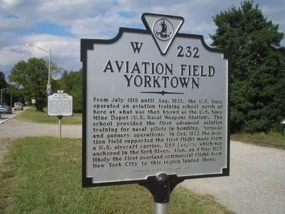 Aviation Field Yorktown Marker image. Click for full size.
