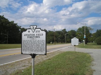 Markers on Yorktown Road image. Click for full size.