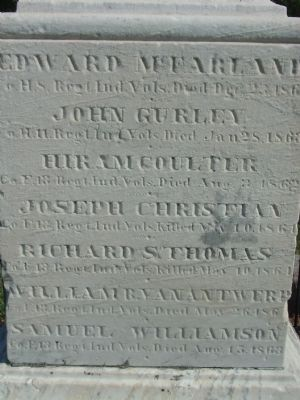 Left (South) Side of  Marker image. Click for full size.