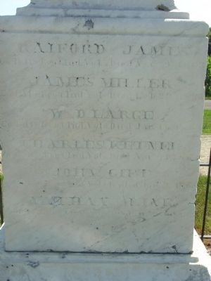 Back ( West ) Side of Marker image. Click for full size.