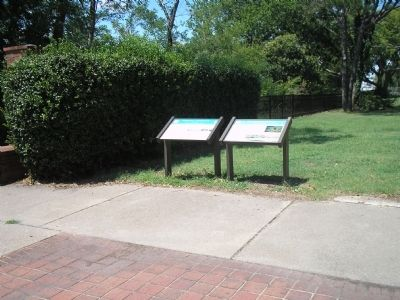 Markers in Christopher Newport Park image. Click for full size.