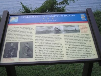 Stalemate in Hampton Roads Marker image. Click for full size.