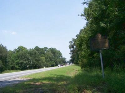 Battery Jones Marker, Looking North on US 17 image. Click for full size.