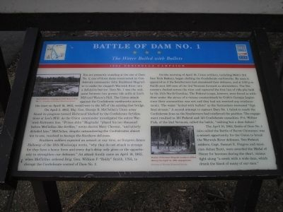 Battle of Dam No. 1 Marker image. Click for full size.