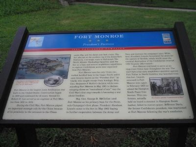 Fort Monroe Marker image. Click for full size.