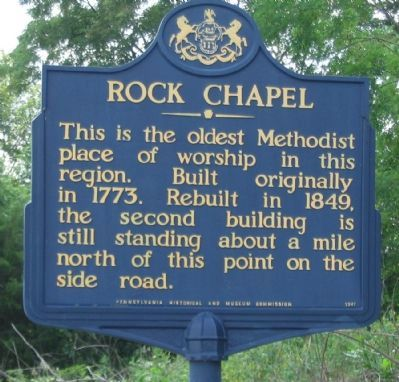 Rock Chapel Marker image. Click for full size.