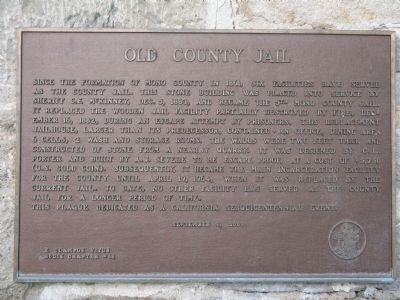 Old County Jail Marker image. Click for full size.