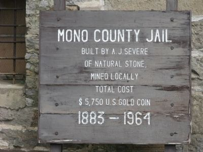 Old County Jail Sign image. Click for full size.