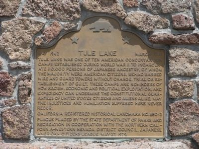 Tule Lake Marker image. Click for full size.
