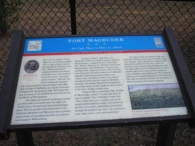 Fort Magruder Marker image. Click for full size.