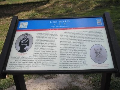 Lee Hall Marker image. Click for full size.
