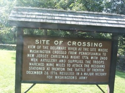 Site of Crossing Marker - Front image. Click for full size.
