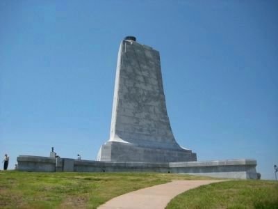 Eastern side of the Wright Brothers National Memorial image. Click for full size.