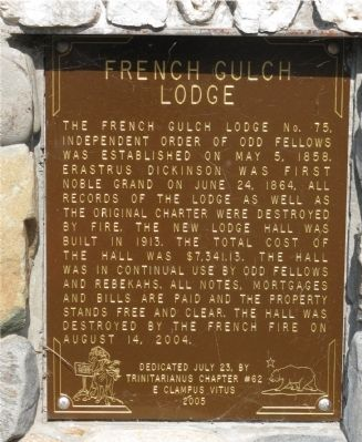 French Gulch Lodge Marker image. Click for full size.