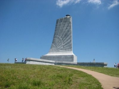 Western side of the Wright Brothers National Memorial image. Click for full size.