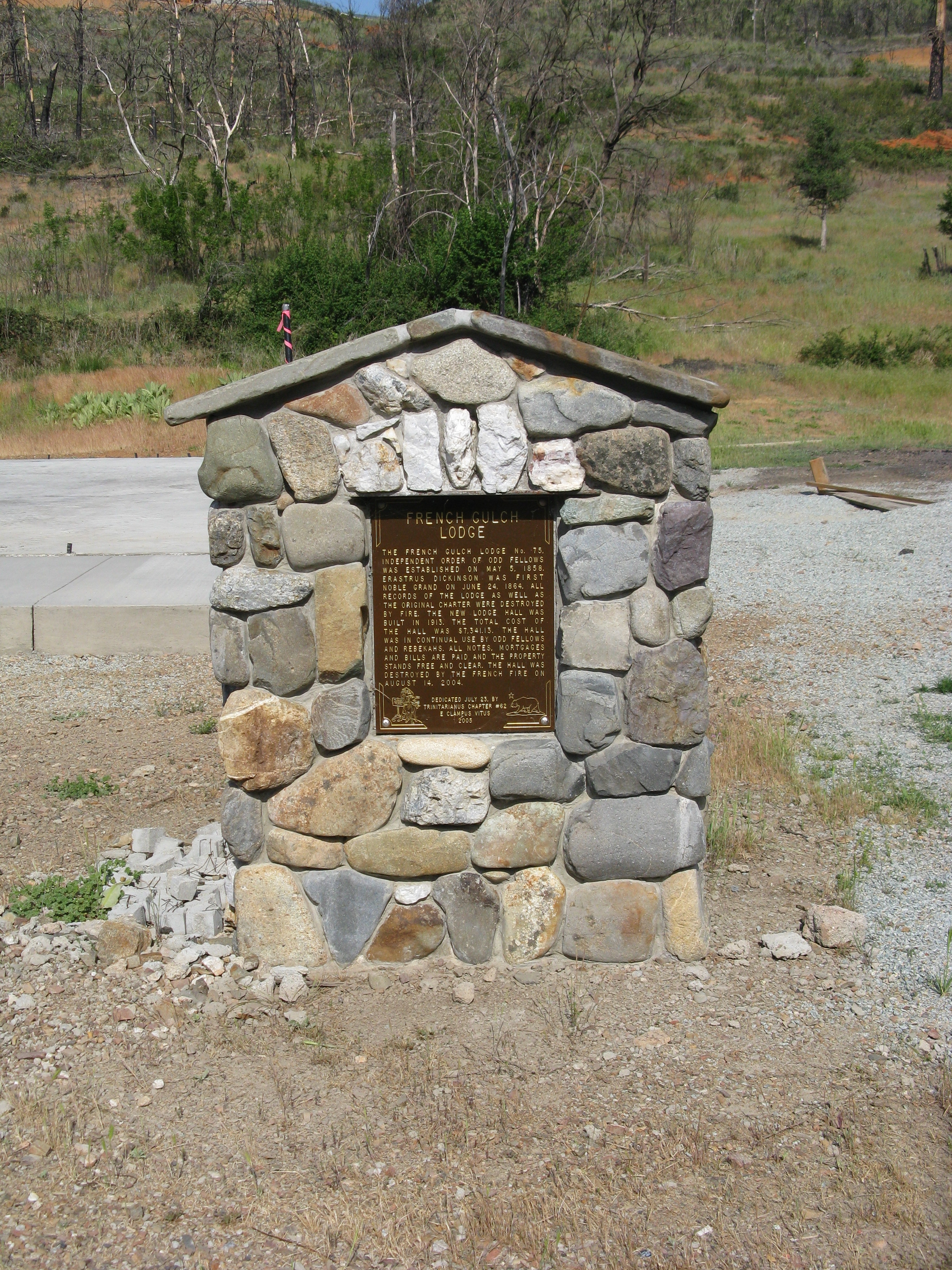 French Gulch Lodge Marker