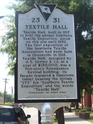Textile Hall Marker - Front image. Click for full size.