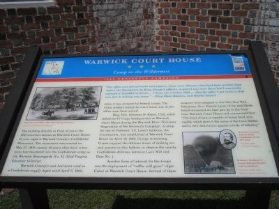 Warwick Court House Marker image. Click for full size.