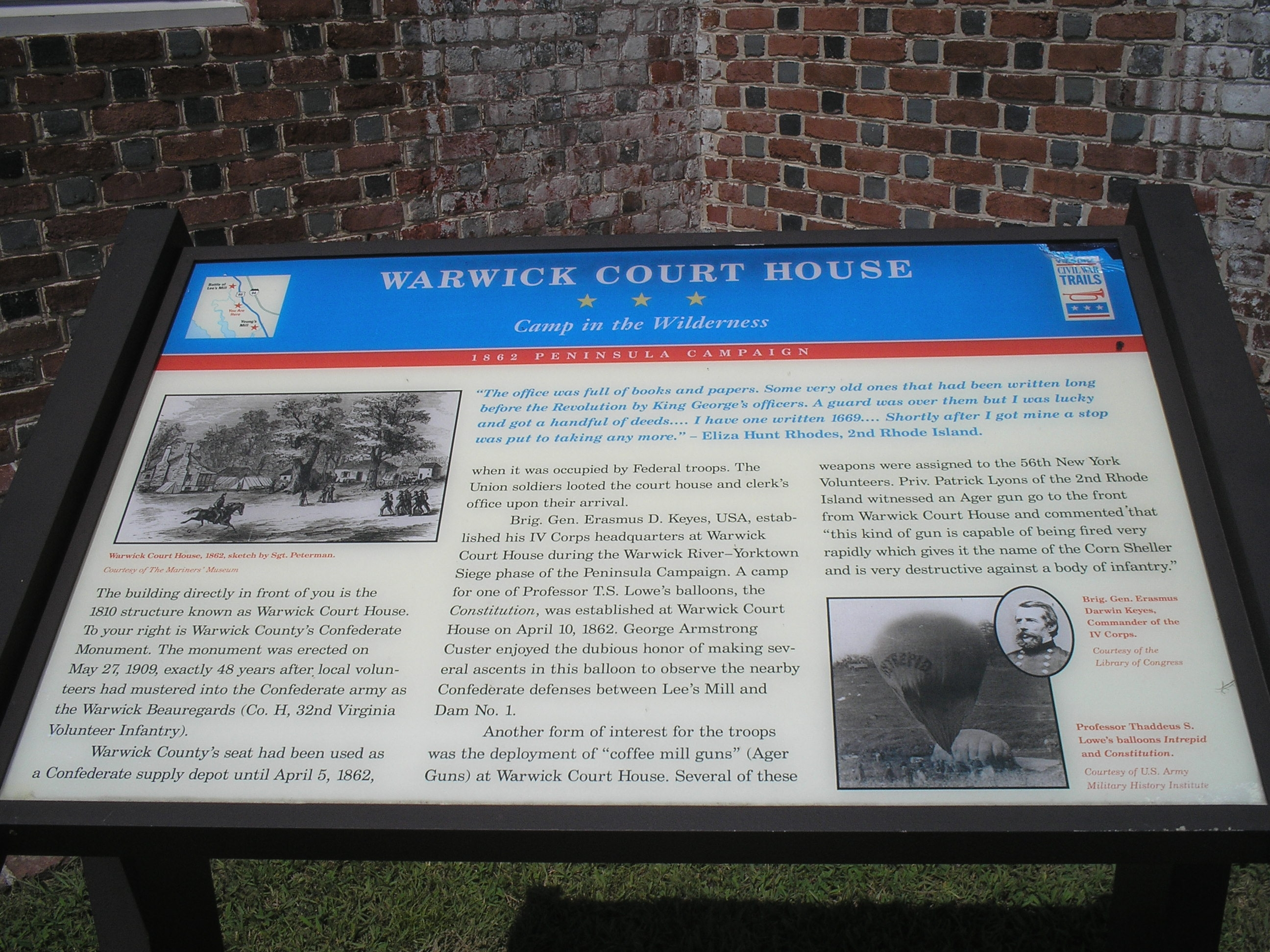 Warwick Court House Marker