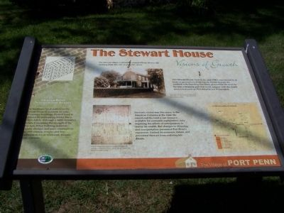 The Stewart House Marker image. Click for full size.