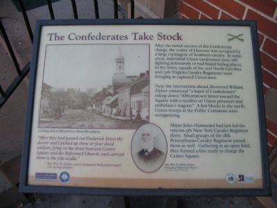 The Confederates Take Stock Marker image. Click for full size.